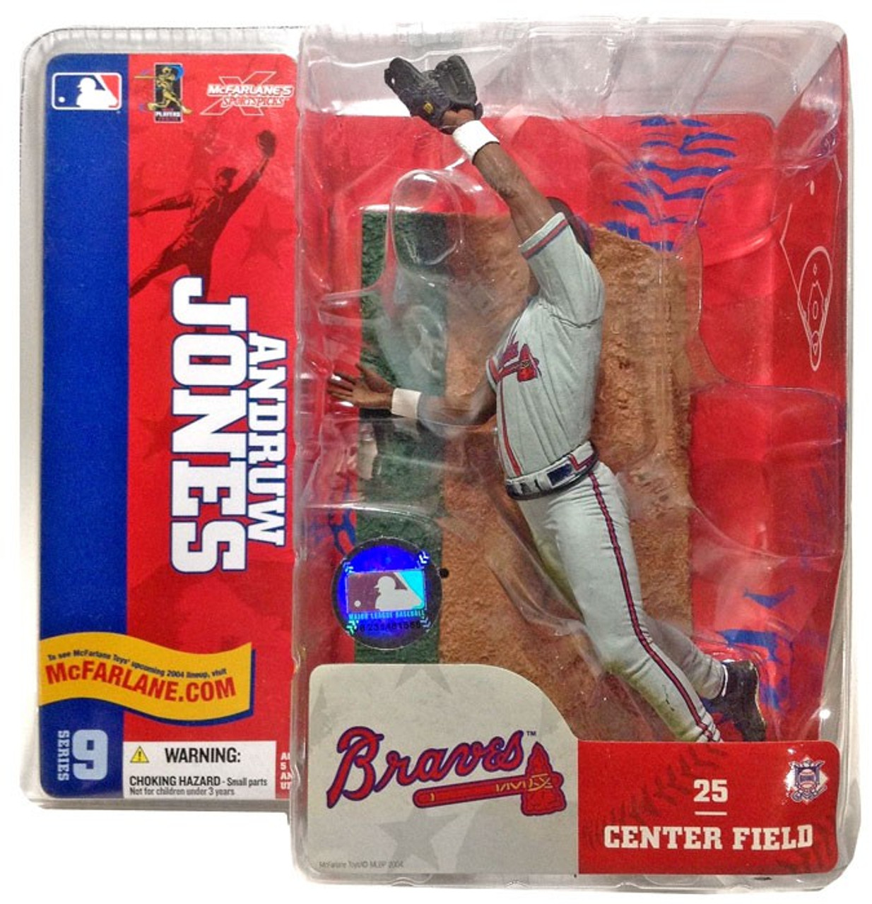 McFarlane Toys MLB Atlanta Braves Sports Picks Series 9 Andruw Jones Action Figure [Gray Jersey Variant]
