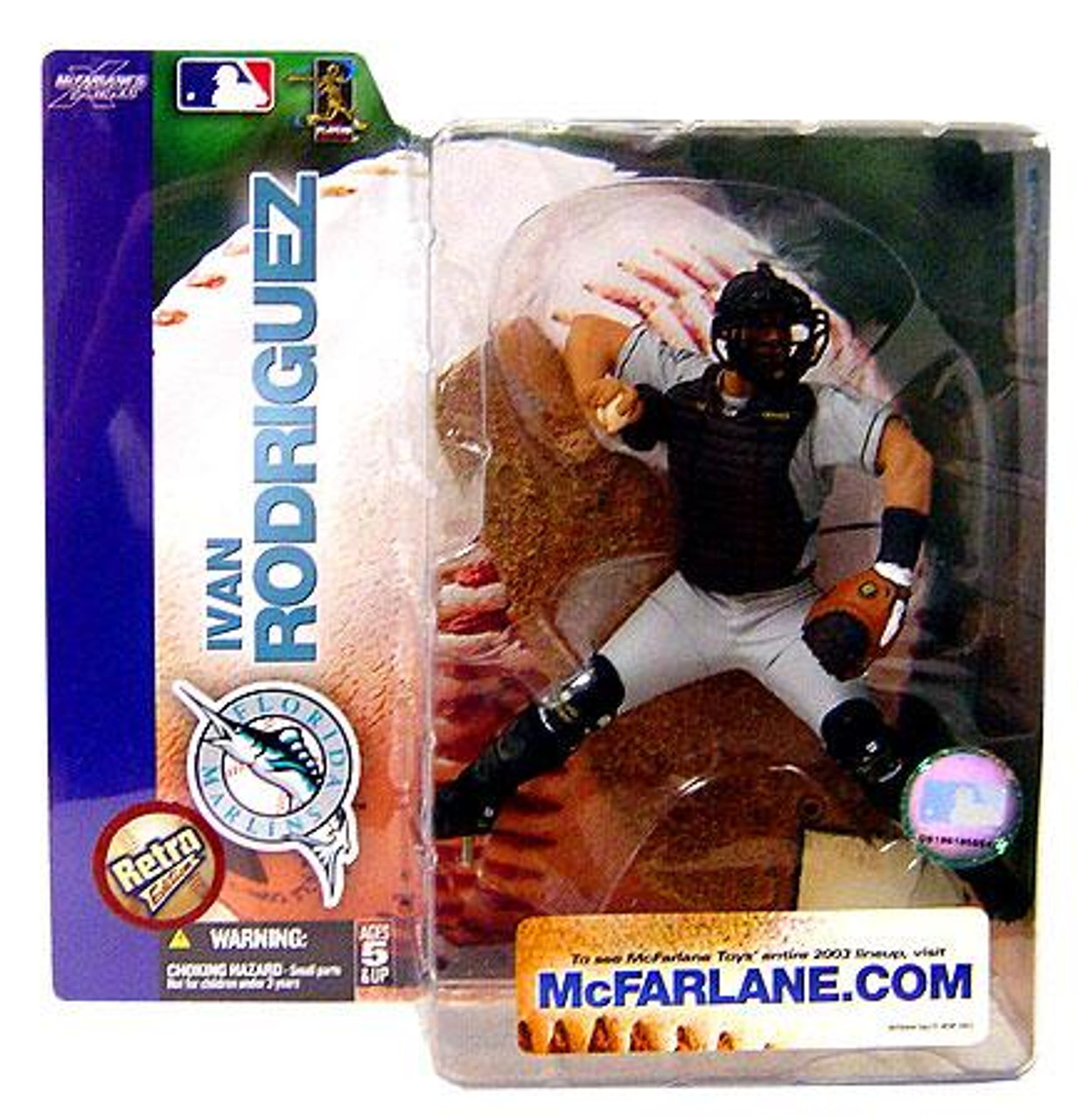 McFarlane Toys MLB Florida Marlins Sports Picks Series 7 Ivan Rodriguez Action Figure [Retro Variant, Damaged Package]