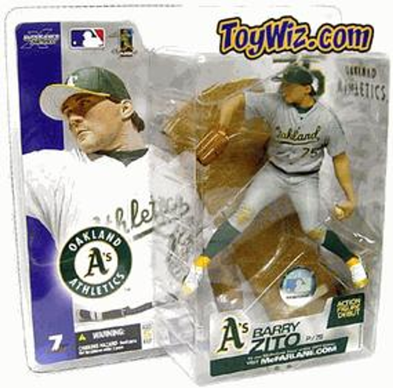McFarlane Toys MLB Oakland A's Sports Picks Series 7 Barry Zito Action Figure [Gray Jersey Variant]