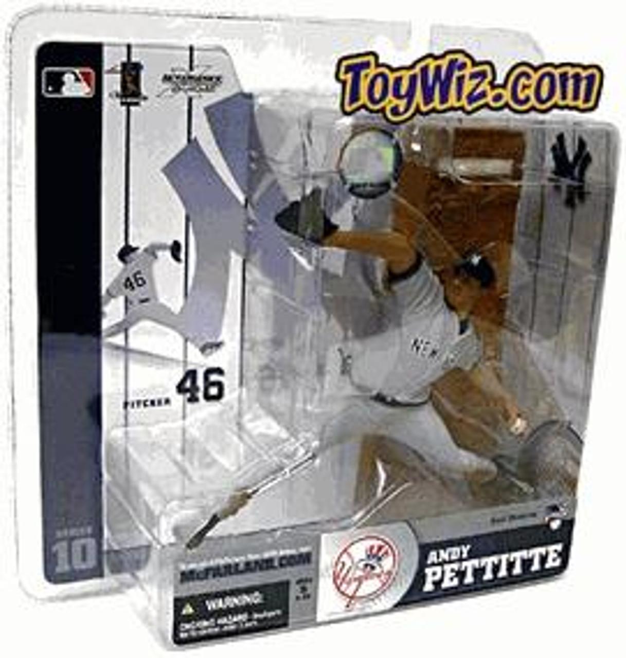 McFarlane Toys MLB New York Yankees Sports Picks Series 10 Andy Pettitte Action Figure [Gray Jersey Variant]