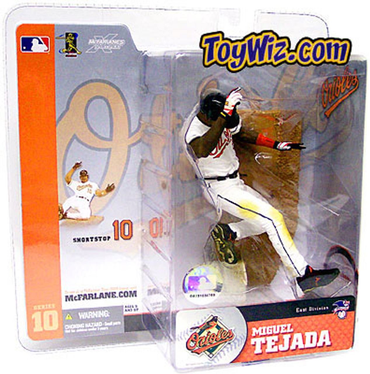 McFarlane Toys MLB Baltimore Orioles Sports Picks Series 10 Miguel Tejada Action Figure [White Jersey]