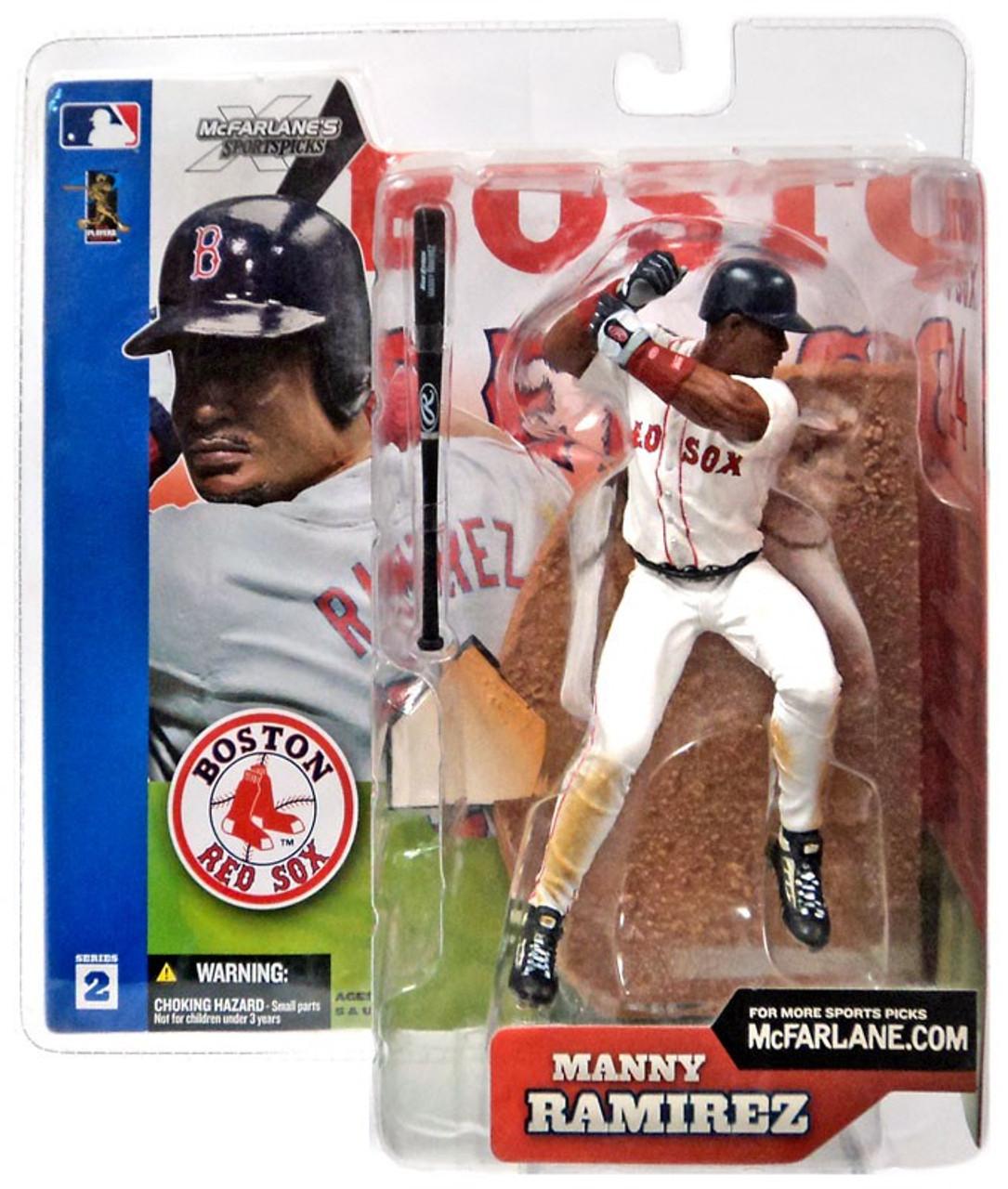 McFarlane Toys MLB Boston Red Sox Sports Picks Series 2 Manny Ramirez Action Figure [White Jersey Variant]