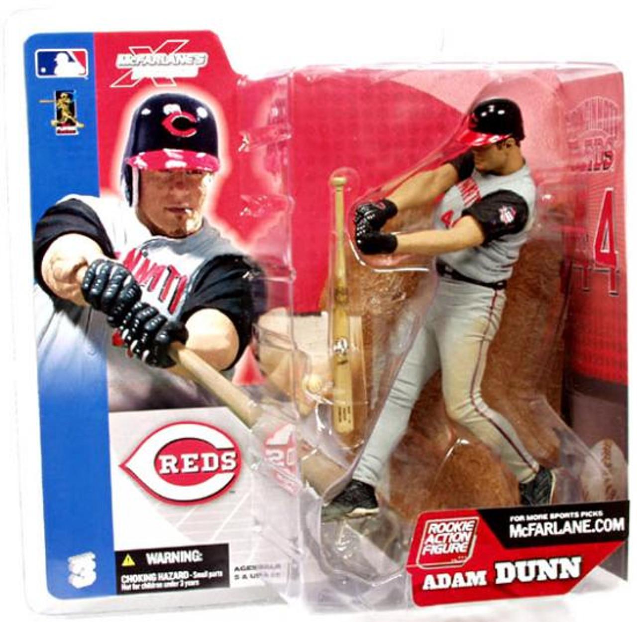 McFarlane Toys MLB Cincinnati Reds Sports Picks Series 3 Adam Dunn Action Figure [Gray Jersey]