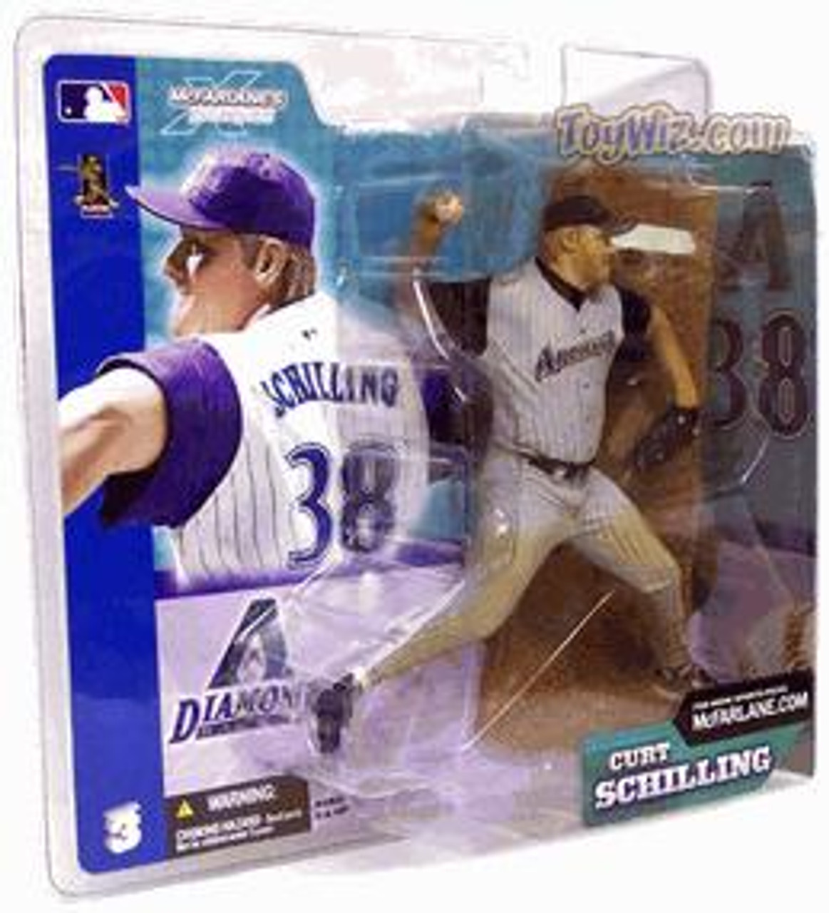 McFarlane Toys MLB Arizona Diamondbacks Sports Picks Series 3 Curt Schilling Action Figure [Gray Jersey Variant]