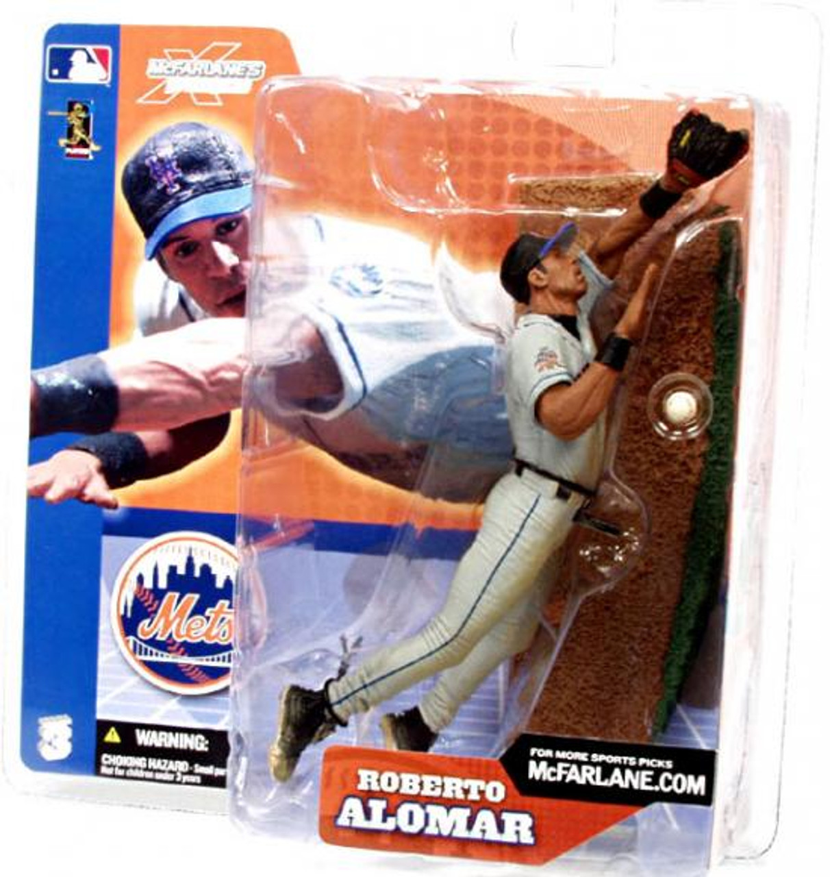 McFarlane Toys MLB Sports Picks Series 3 Roberto Alomar (New York Mets) Action Figure [Gray Jersey]