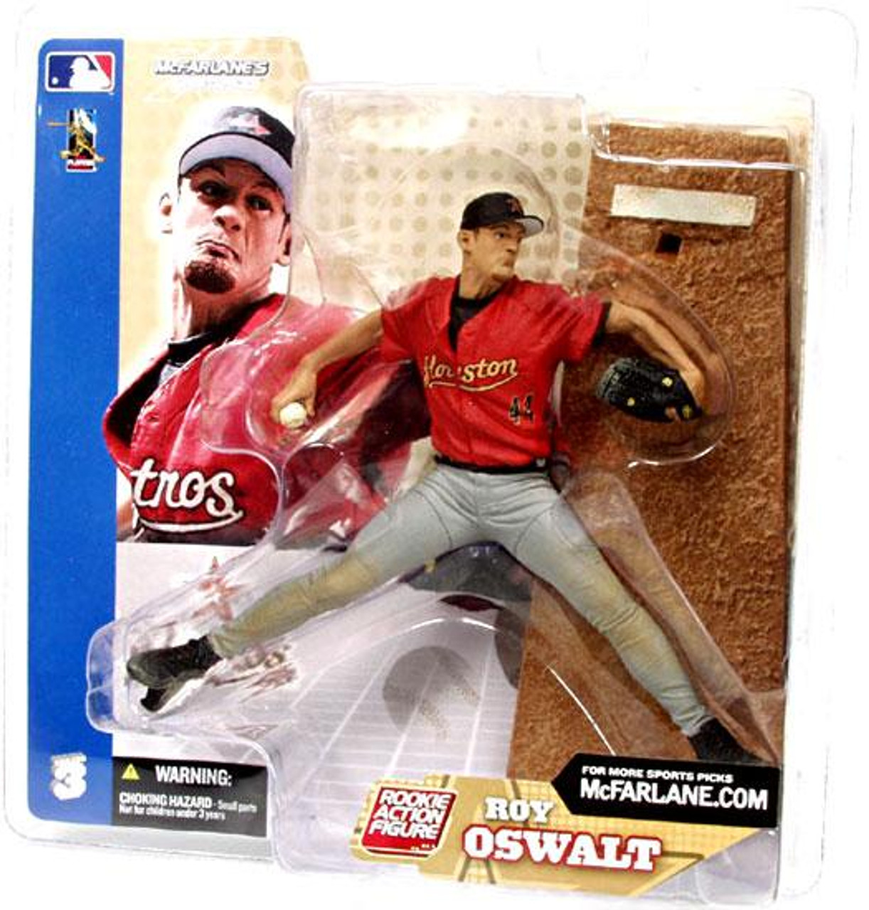 McFarlane Toys MLB Houston Astros Sports Picks Series 3 Roy Oswalt Action Figure [Gray Pants Variant]