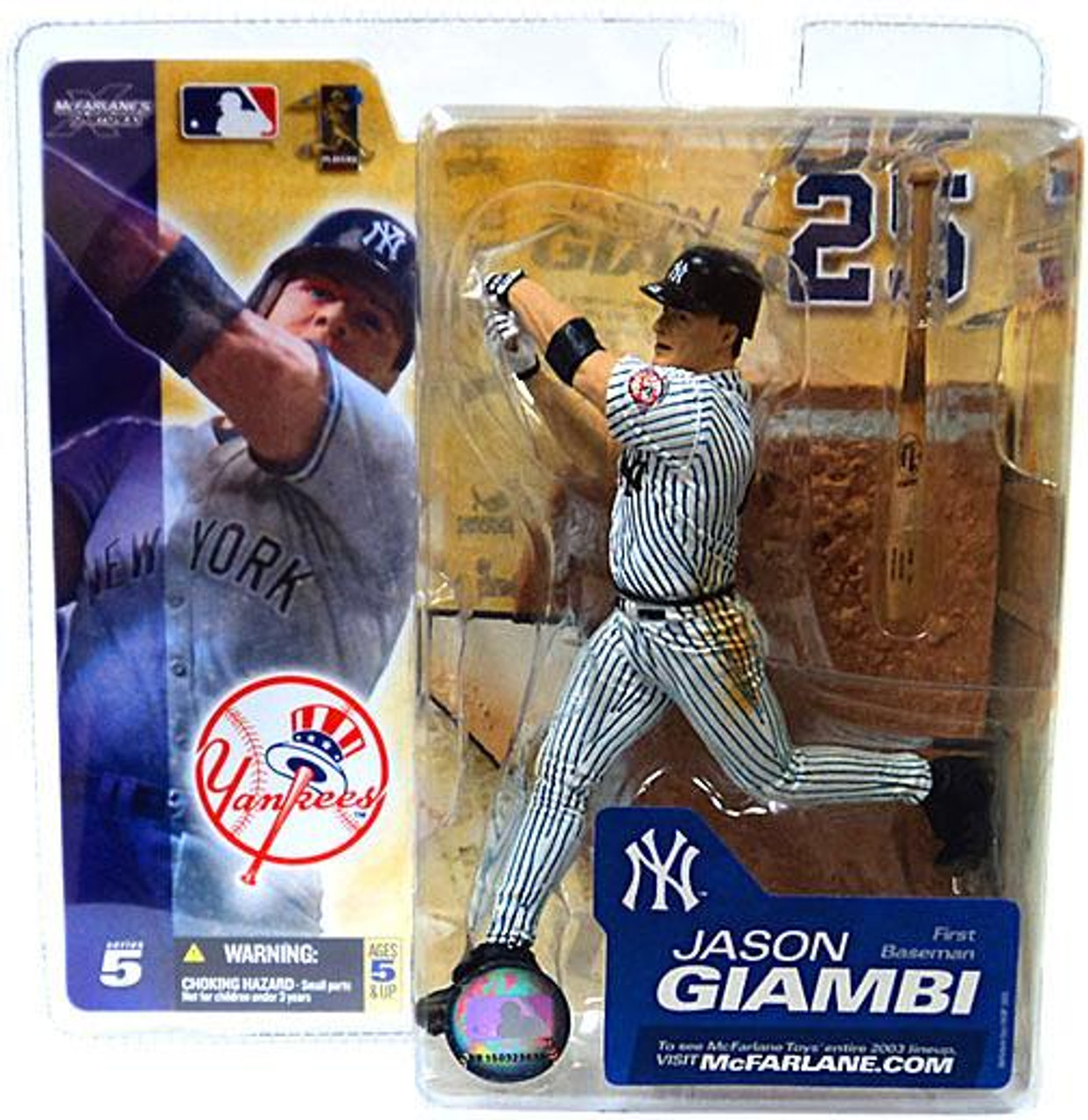 McFarlane Toys MLB New York Yankees Sports Picks Series 5 Jason Giambi Action Figure [White Jersey]