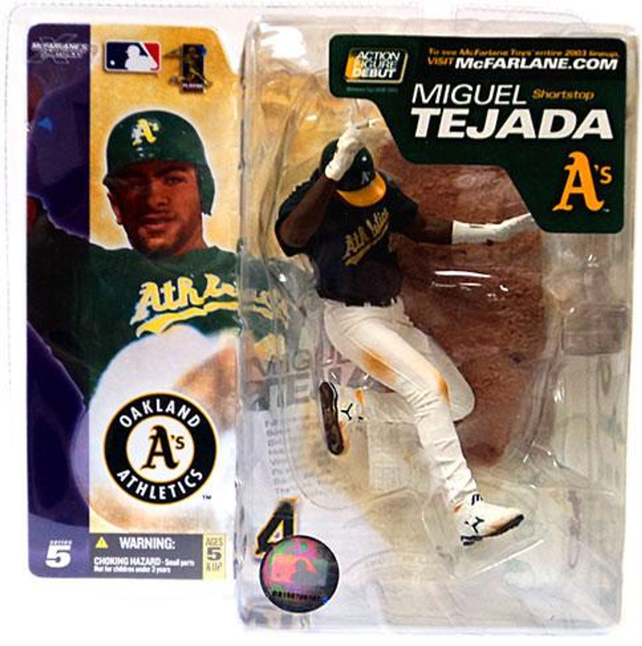 McFarlane Toys MLB Oakland A's Sports Picks Series 5 Miguel Tejada Action Figure [Green Jersey]