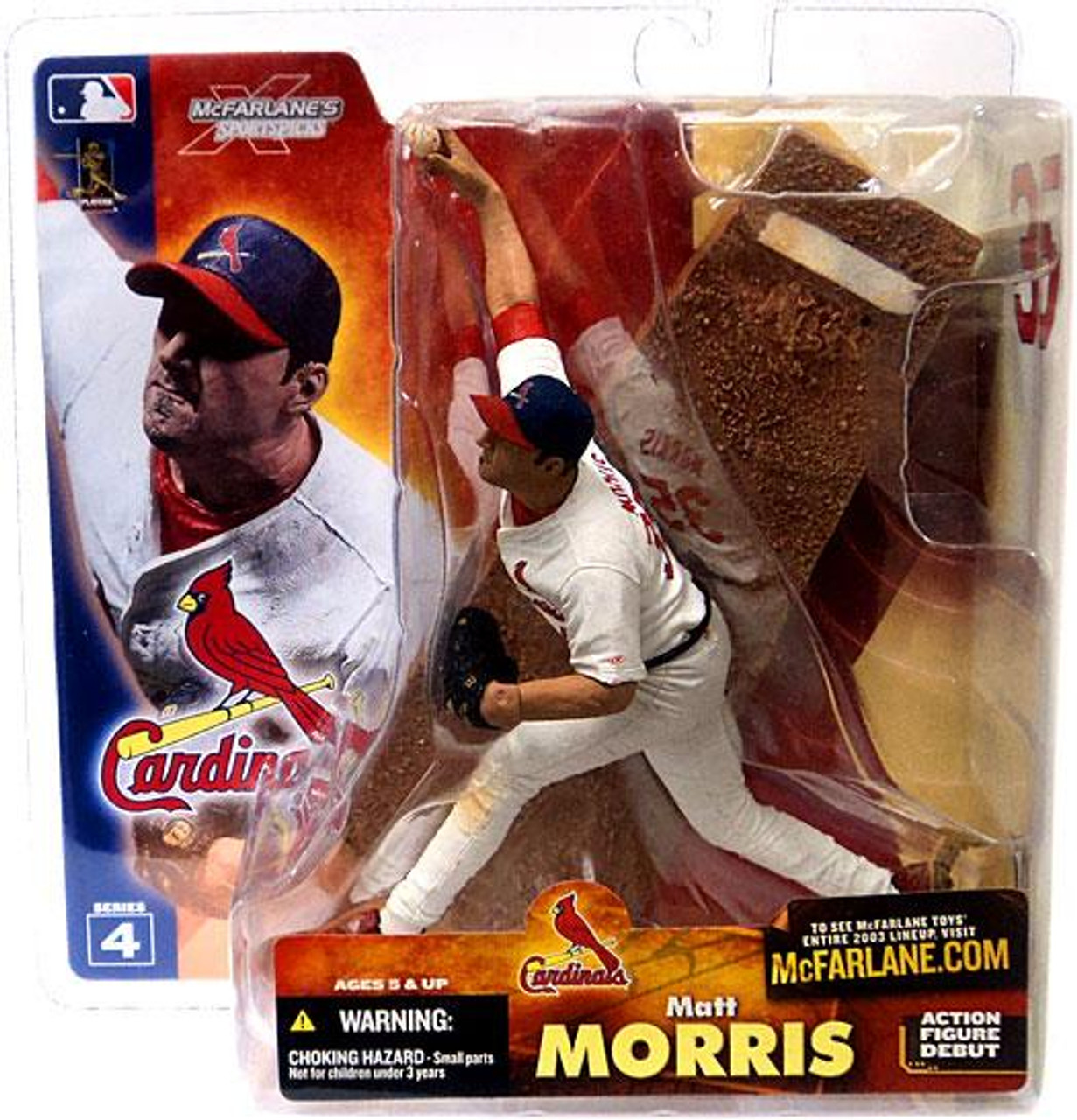 McFarlane Toys MLB St. Louis Cardinals Sports Picks Series 4 Matt Morris Action Figure [White Jersey]