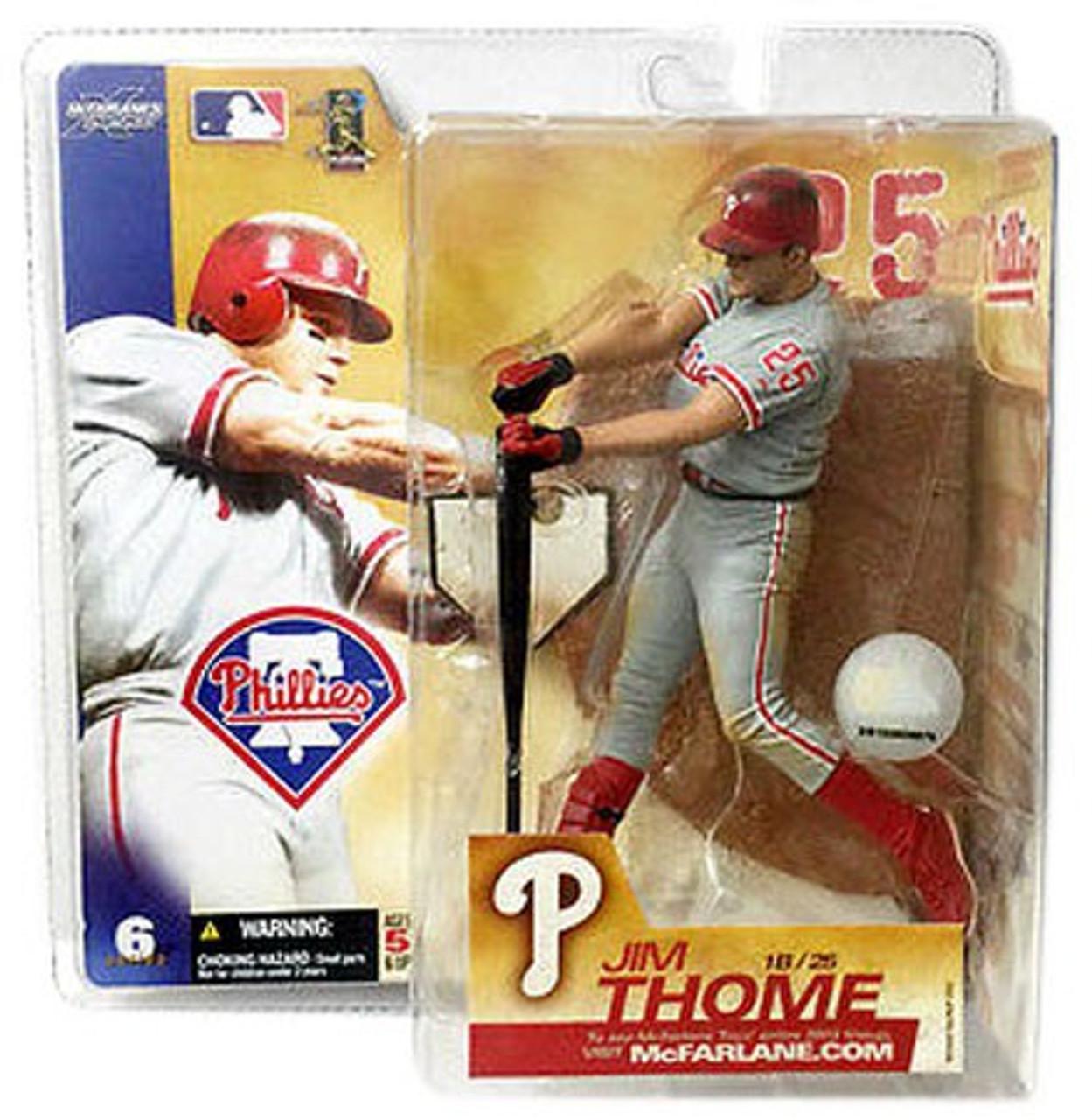 McFarlane Toys MLB Philadelphia Phillies Sports Picks Series 6 Jim Thome Action Figure [Gray Jersey]