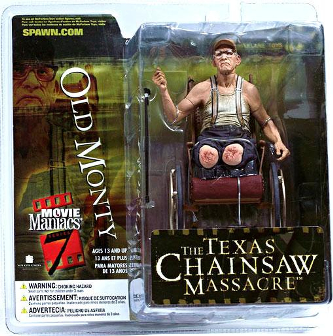 McFarlane Toys The Texas Chainsaw Massacre Movie Maniacs Series 7 Old Monty Action Figure