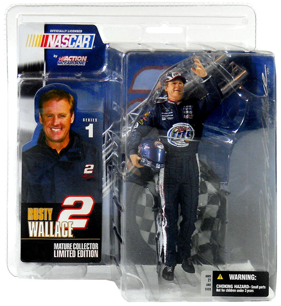 McFarlane Toys NASCAR Rusty Wallace Action Figure