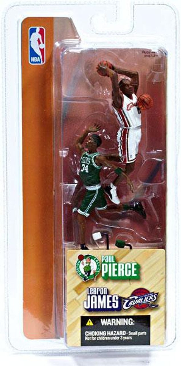 McFarlane Toys NBA Cleveland Cavaliers / Boston Celtics Sports Picks 3 Inch Mini Series 1 Lebron James & Paul Pierce Mini Figure 2-Pack