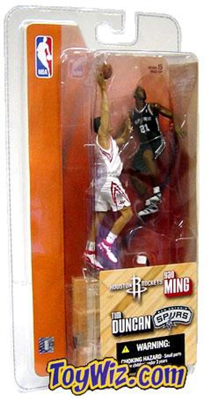 McFarlane Toys NBA Houston Rockets / San Antonio Spurs Sports Picks 3 Inch Mini Series 1 Yao Ming & Tim Duncan Mini Figure 2-Pack