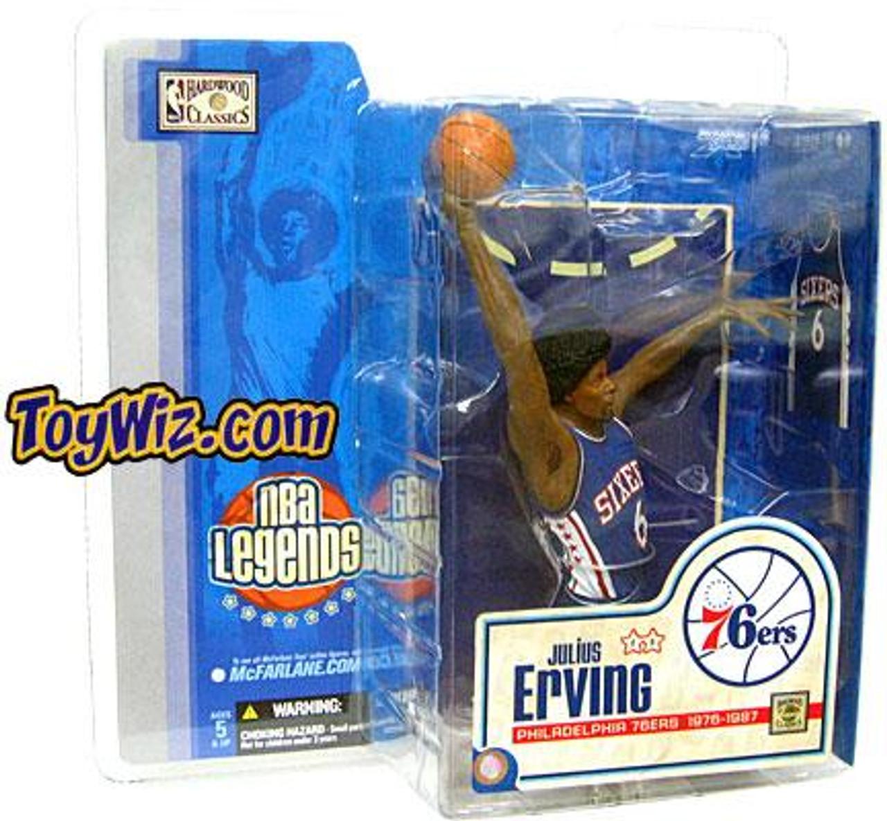 McFarlane Toys NBA Philadelphia 76ers Sports Picks Legends Series 1 Julius Erving Action Figure [Blue Jersey]