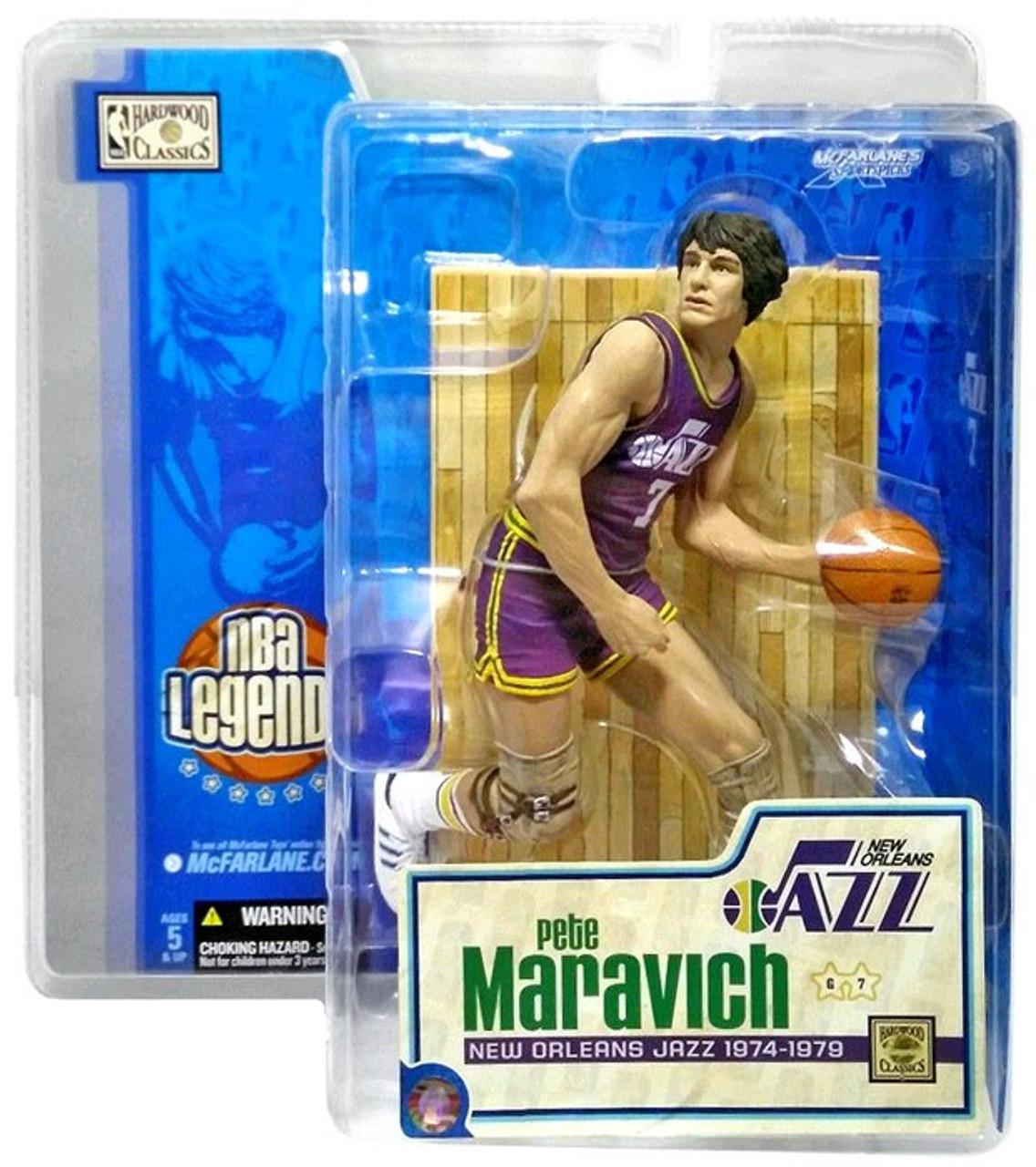 McFarlane Toys NBA New Orleans Jazz Sports Picks Legends Series 1 Pete Maravich Action Figure [Purple Jersey]