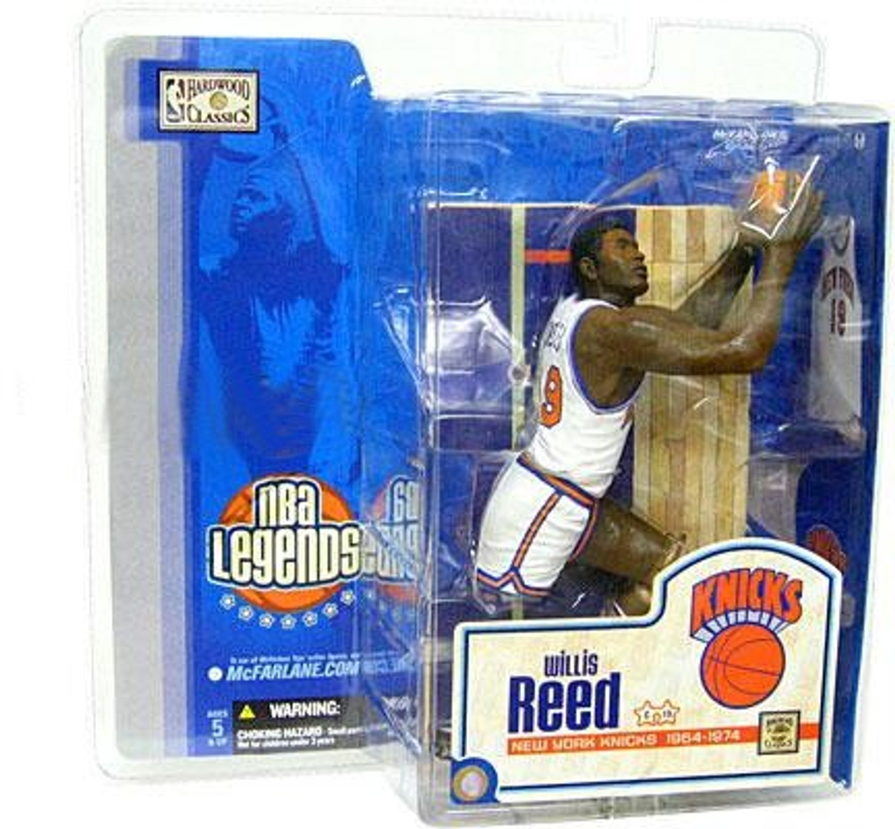 McFarlane Toys NBA New York Knicks Sports Picks Legends Series 1 Willis Reed Action Figure [White Jersey]