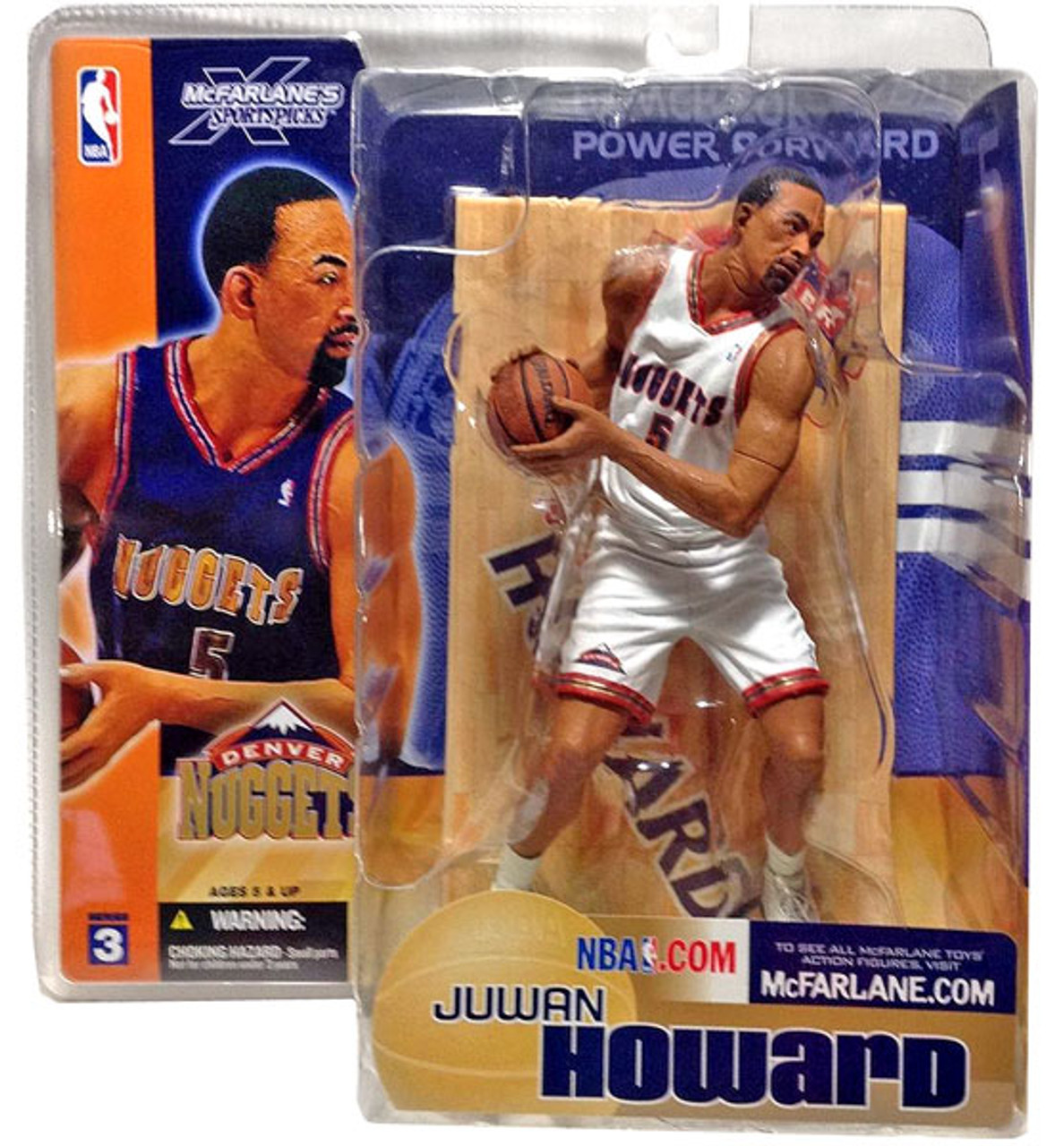 McFarlane Toys NBA Denver Nuggets Sports Picks Series 3 Juwan Howard Action Figure [White Jersey Variant]
