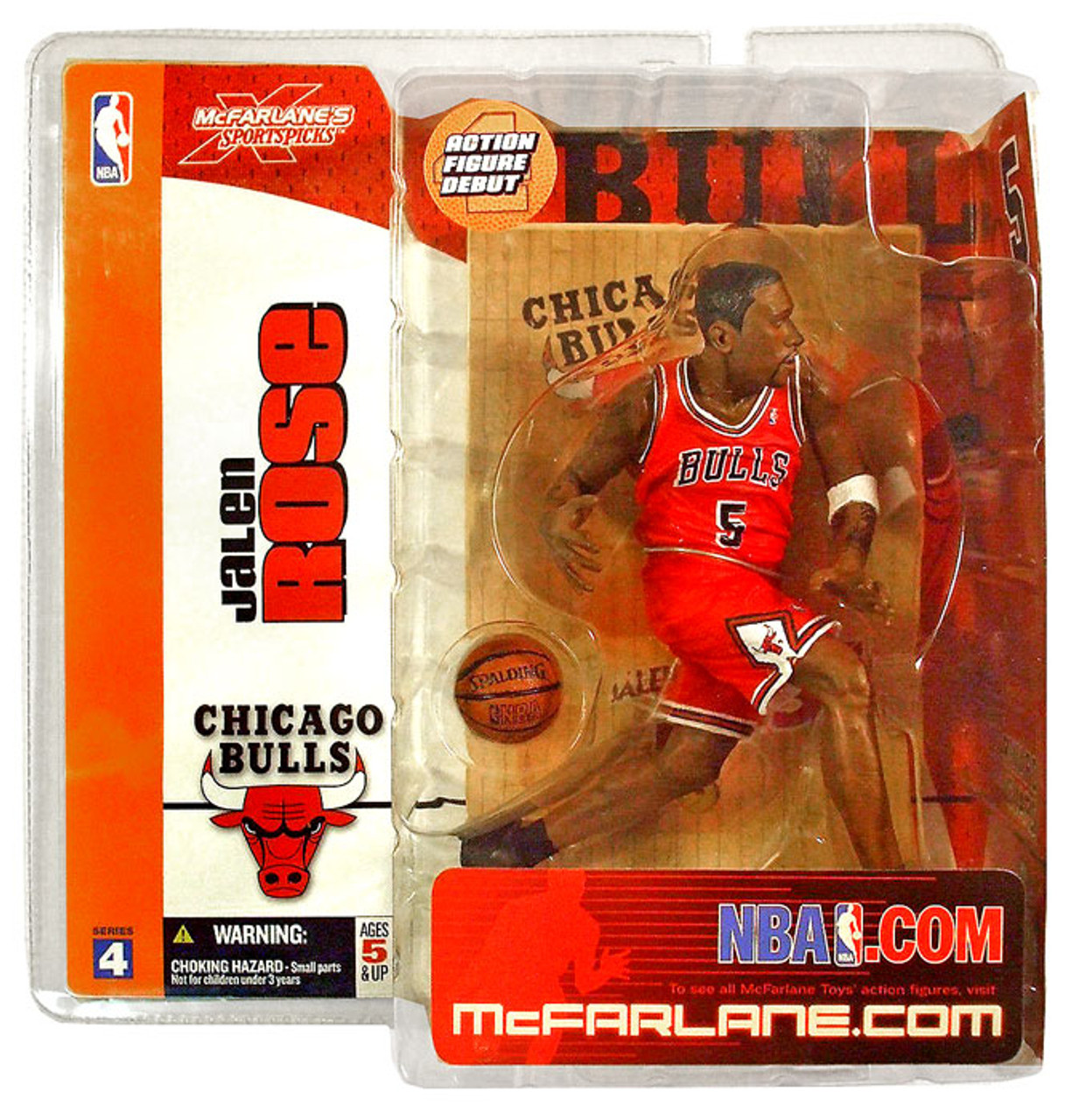 McFarlane Toys NBA Chicago Bulls Sports Picks Series 4 Jalen Rose Action Figure [Red Jersey]