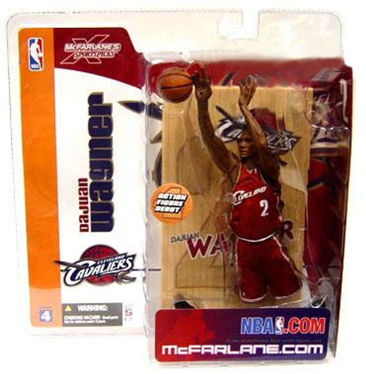 McFarlane Toys NBA Cleveland Cavaliers Sports Picks Series 4 Dajuan Wagner Action Figure [Red Jersey]