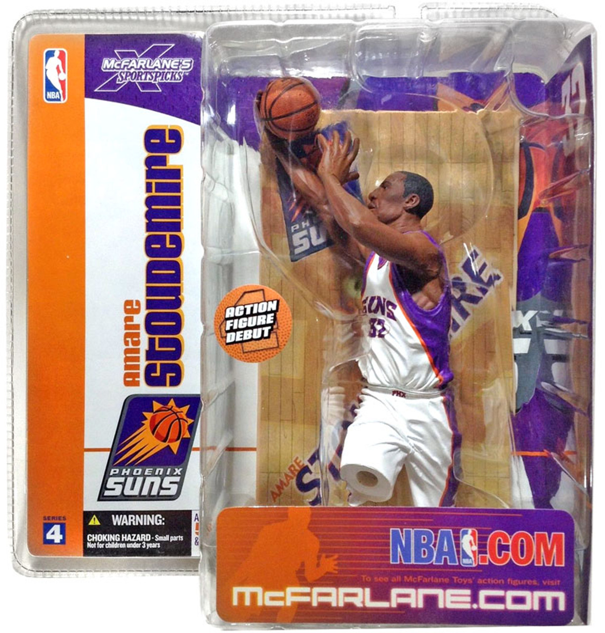 McFarlane Toys NBA Phoenix Suns Sports Picks Series 4 Amare Stoudemire Action Figure [White Jersey]