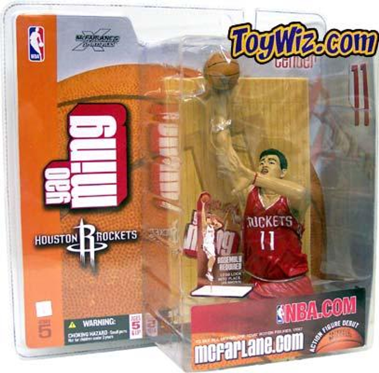 McFarlane Toys NBA Houston Rockets Sports Picks Series 5 Yao Ming Action Figure [Red Jersey Variant]