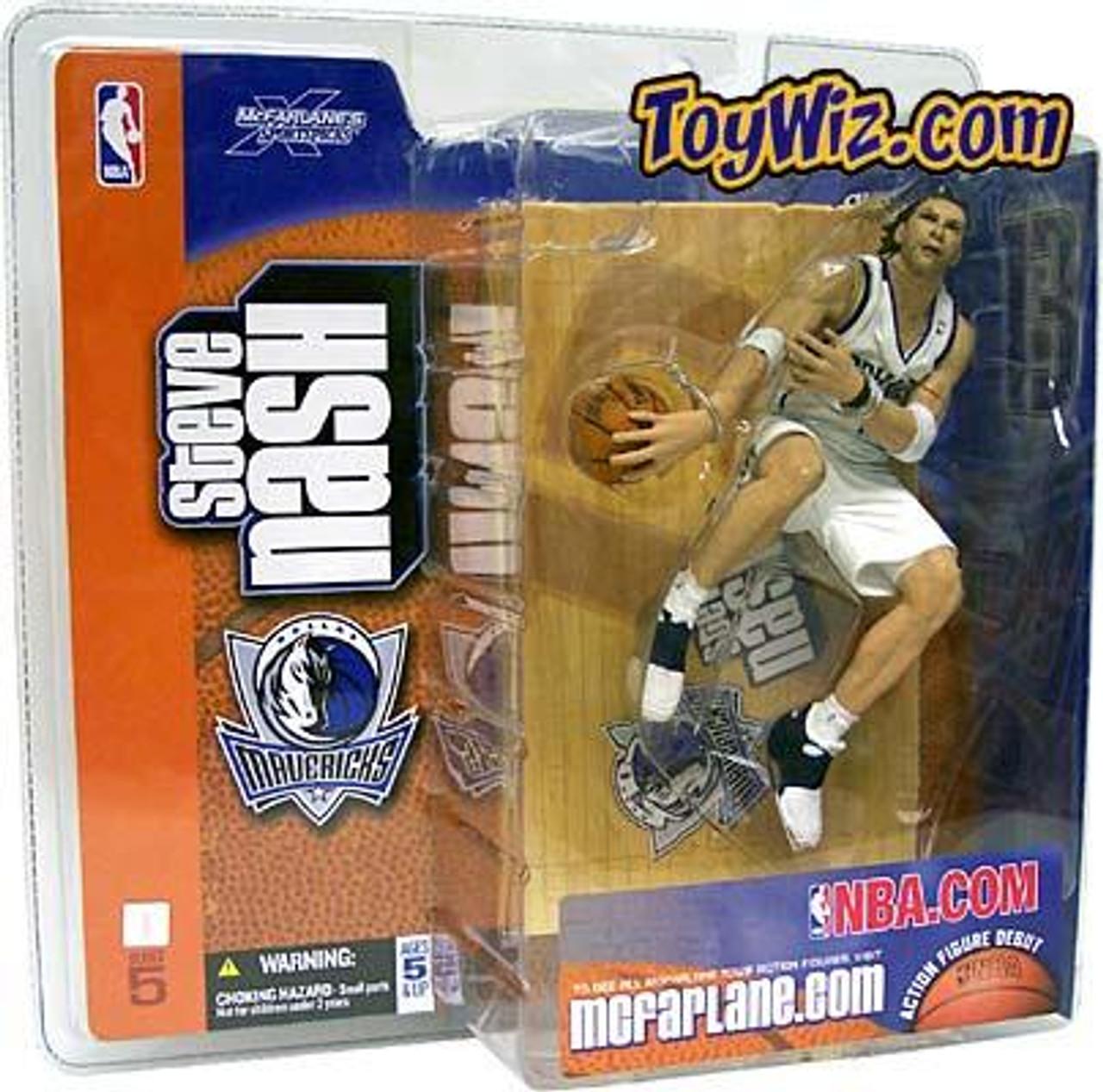 McFarlane Toys NBA Dallas Mavericks Sports Picks Series 5 Steve Nash Action Figure [White Jersey Variant]