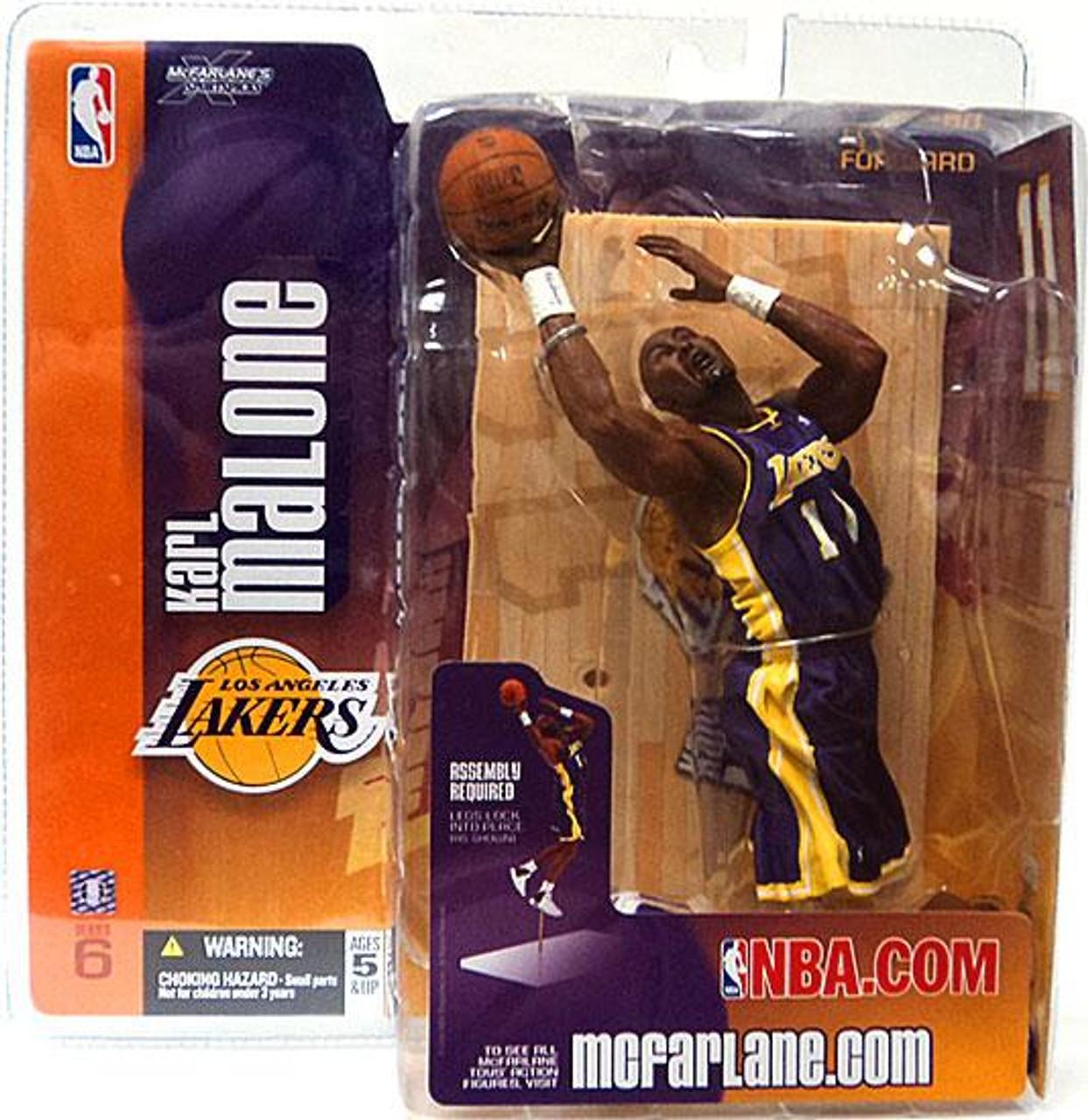 McFarlane Toys NBA Los Angeles Lakers Sports Picks Series 6 Karl Malone Action Figure [Purple Jersey]