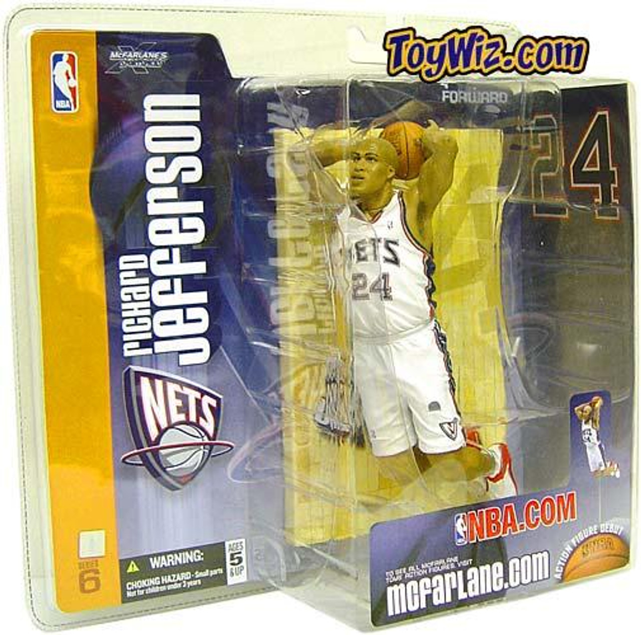 McFarlane Toys NBA New Jersey Nets Sports Picks Series 6 Richard Jefferson Action Figure [White Jersey]