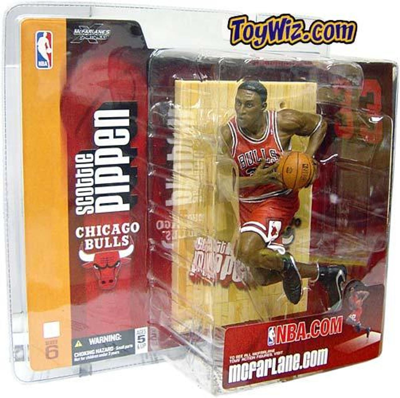 McFarlane Toys NBA Chicago Bulls Sports Picks Series 6 Scottie Pippen Action Figure [Red Jersey]