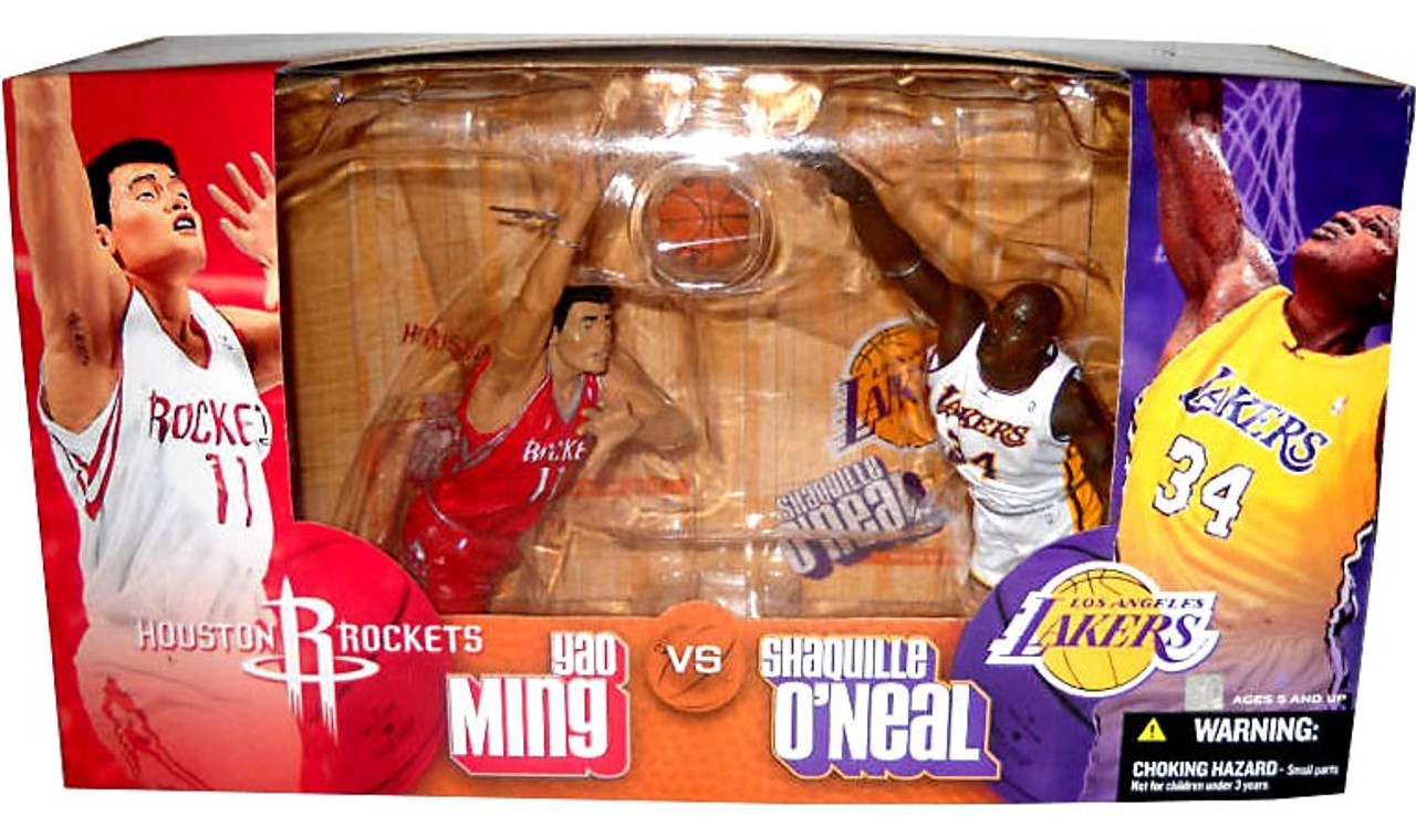 McFarlane Toys NBA Houston Rockets / Los Angeles Lakers Sports Picks Yao Ming & Shaquille O'Neal Action Figure 2-Pack