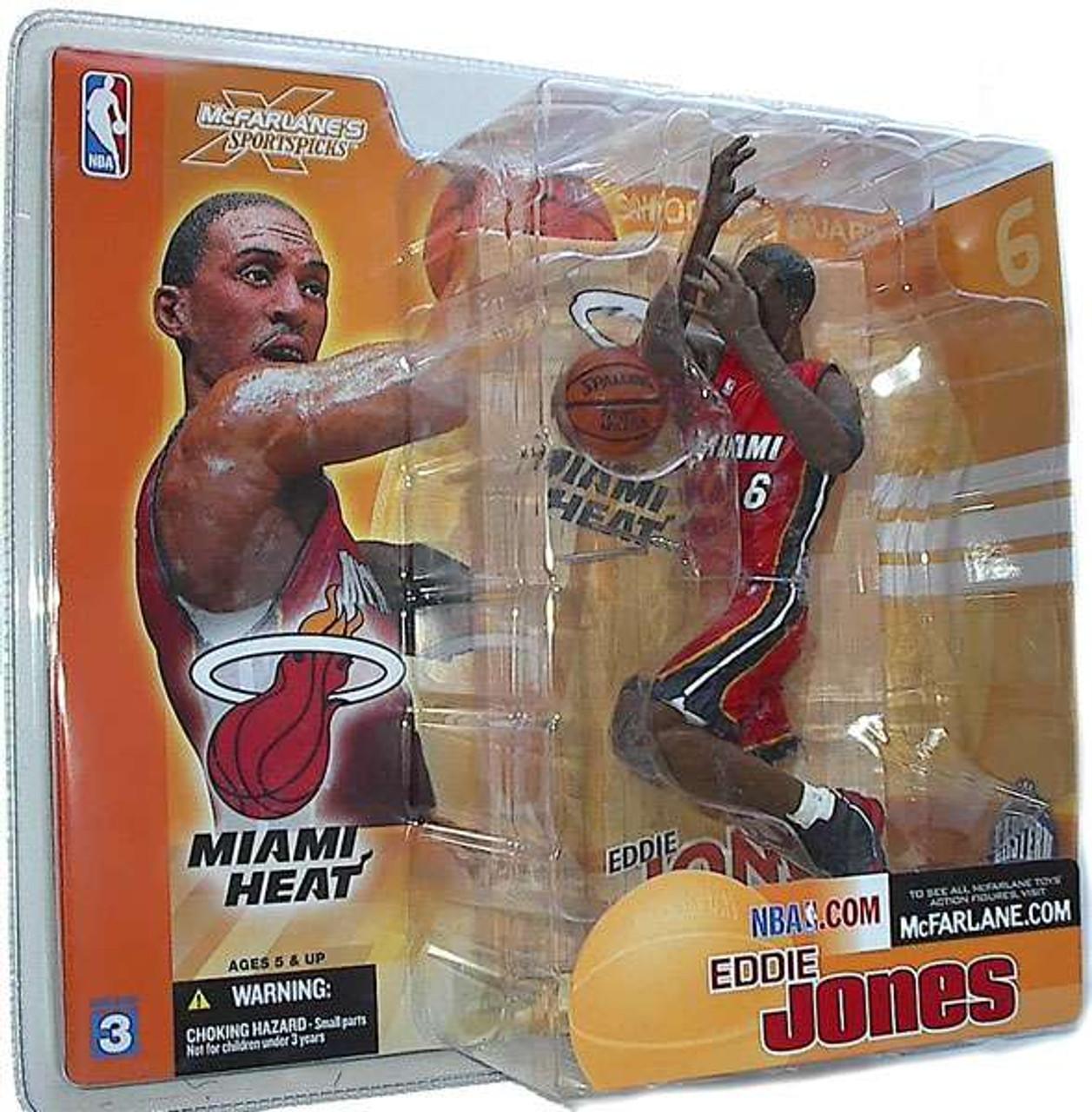 McFarlane Toys NBA Miami Heat Sports Picks Series 3 Eddie Jones Action Figure [Red Jersey]
