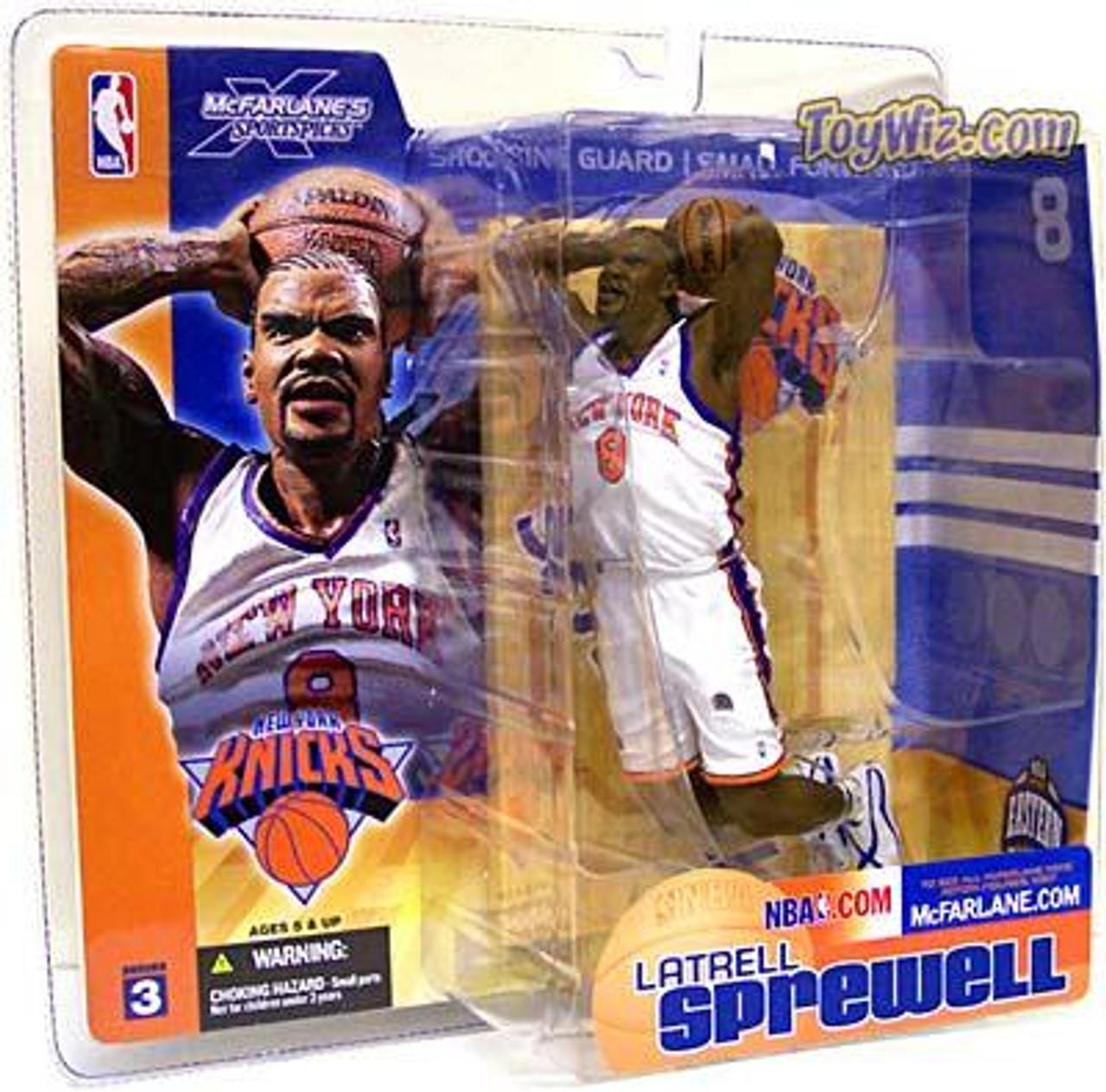 McFarlane Toys NBA New York Knicks Sports Picks Series 3 Latrell Sprewell Action Figure [White Jersey]