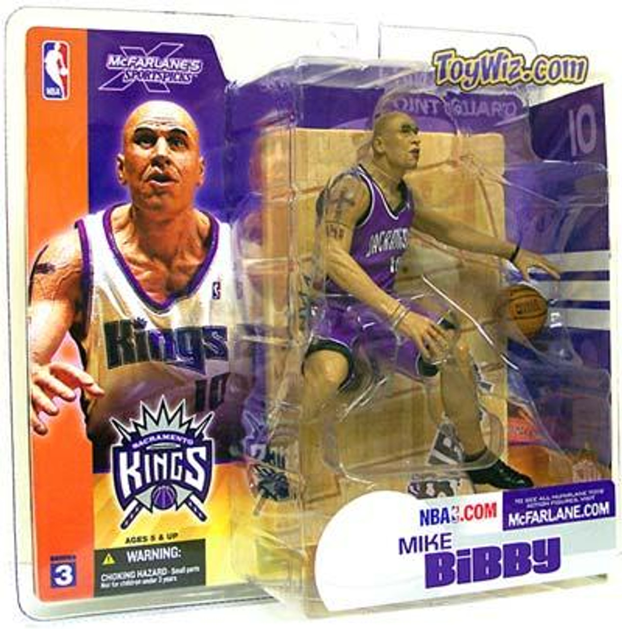 McFarlane Toys NBA Sacramento Kings Sports Picks Series 3 Mike Bibby Action Figure [Purple Jersey Variant]