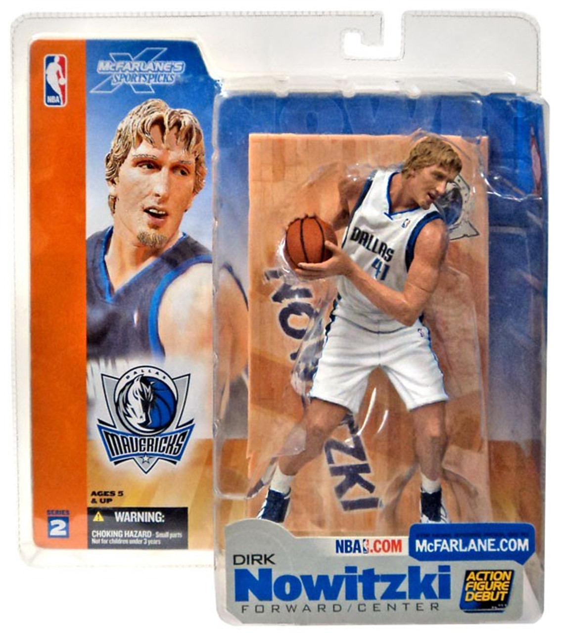 McFarlane Toys NBA Dallas Mavericks Sports Picks Series 2 Dirk Nowitzki Action Figure [White Jersey Variant]