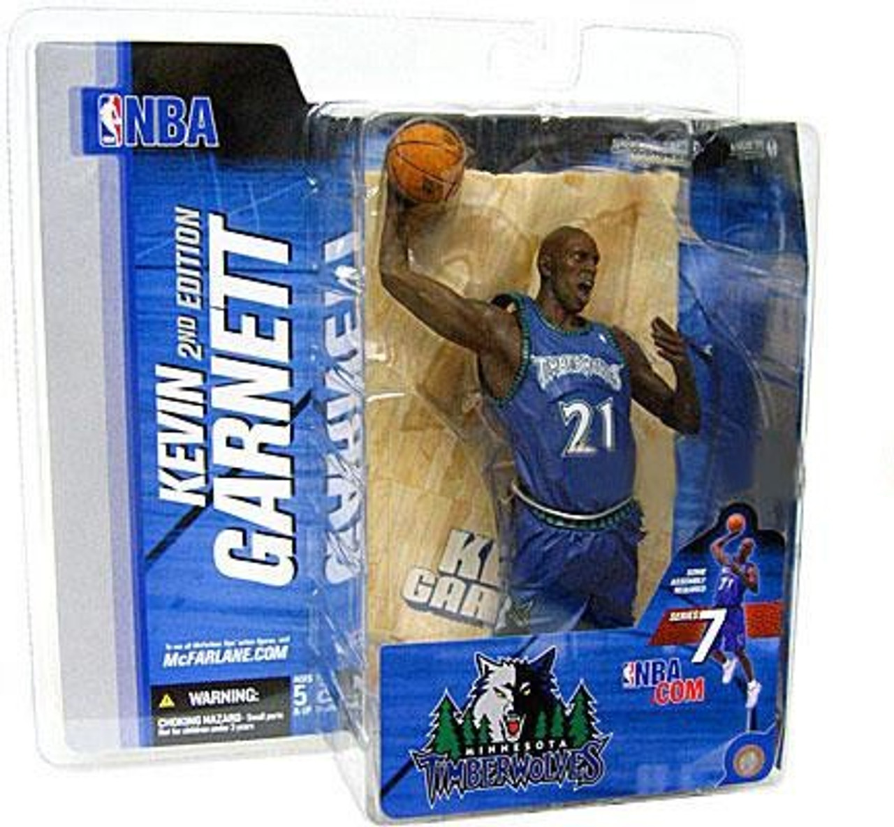 McFarlane Toys NBA Minnesota Timberwolves Sports Picks Series 7 Kevin Garnett Action Figure [Blue Jersey]