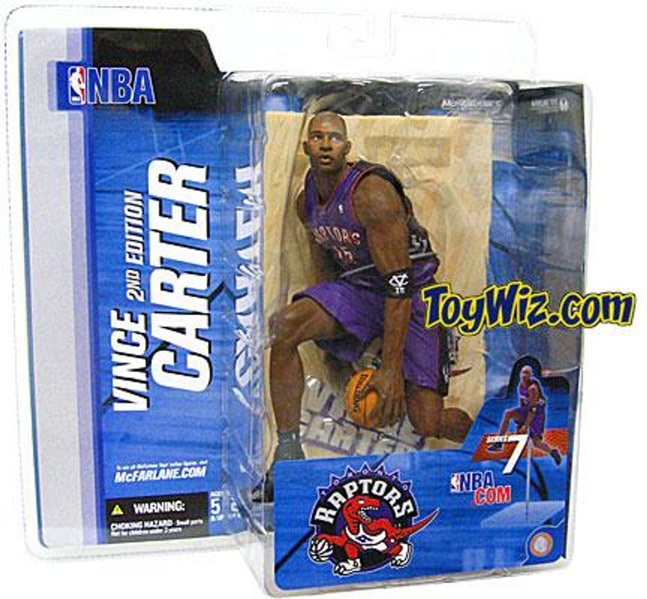 McFarlane Toys NBA Toronto Raptors Sports Picks Series 7 Vince Carter Action Figure [Purple Jersey]
