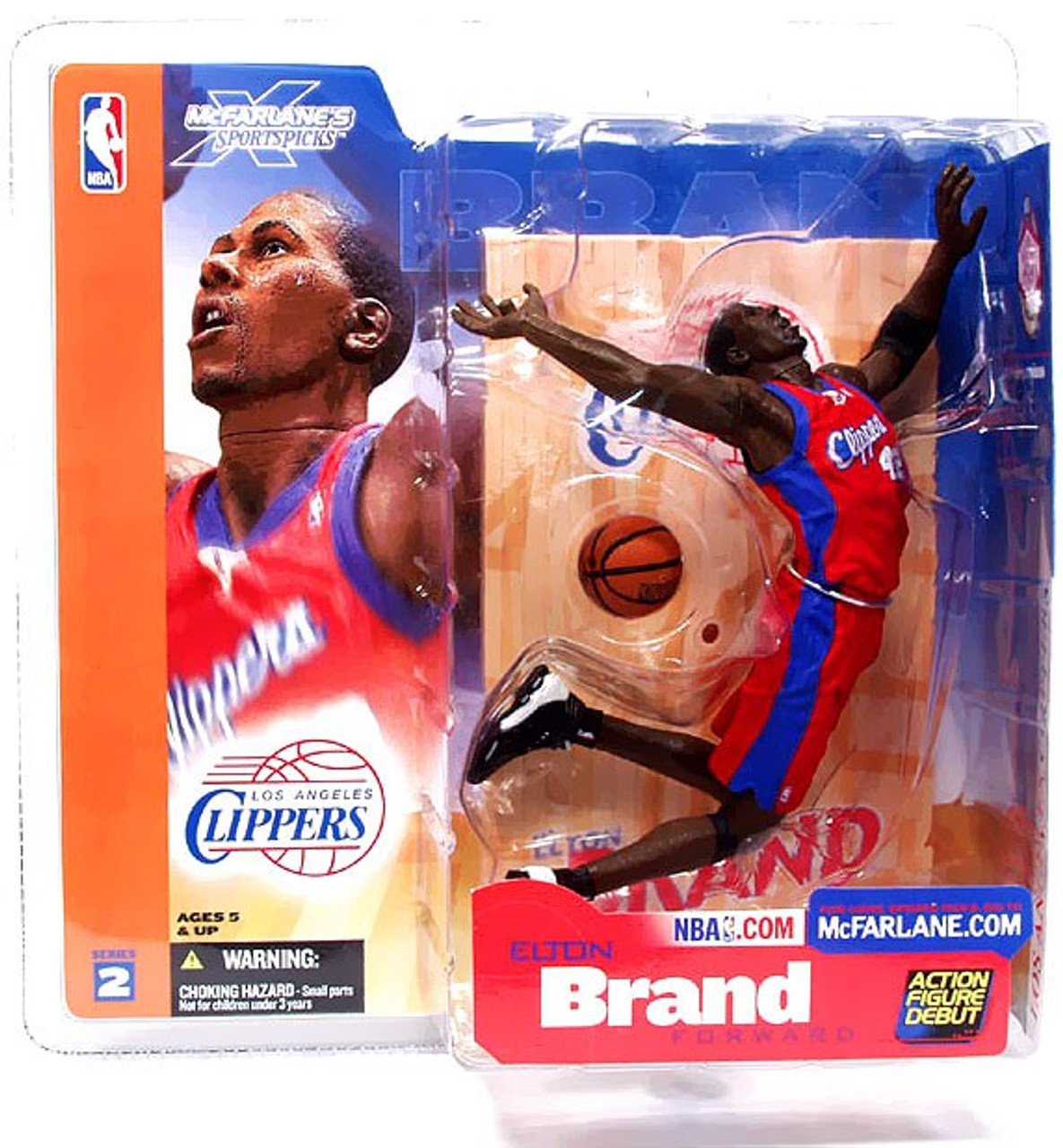McFarlane Toys NBA Los Angeles Clippers Sports Picks Series 2 Elton Brand Action Figure [Red Jersey]