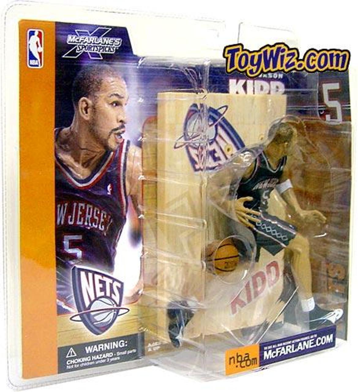 McFarlane Toys NBA New Jersey Nets Sports Picks Series 1 Jason Kidd Action Figure [Blue Jersey]