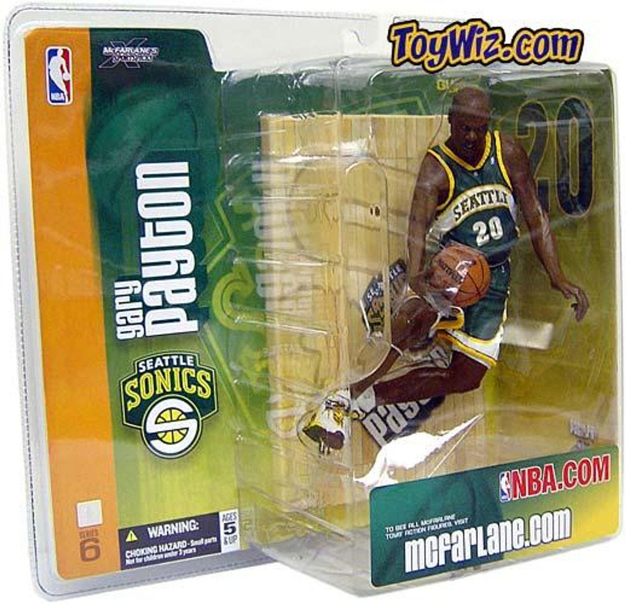 McFarlane Toys NBA Seattle Supersonics Sports Picks Series 6 Gary Payton Action Figure [Green Jersey Variant]