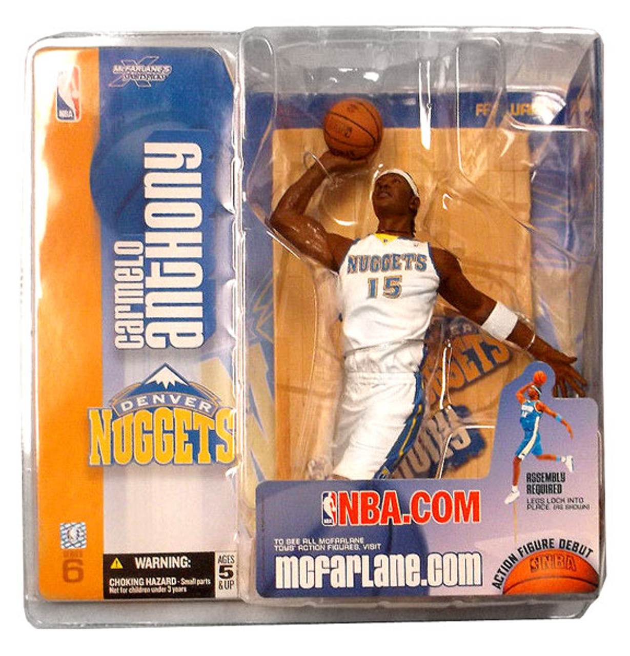 McFarlane Toys NBA Denver Nuggets Sports Picks Series 6 Carmelo Anthony Action Figure [White Jersey Variant]