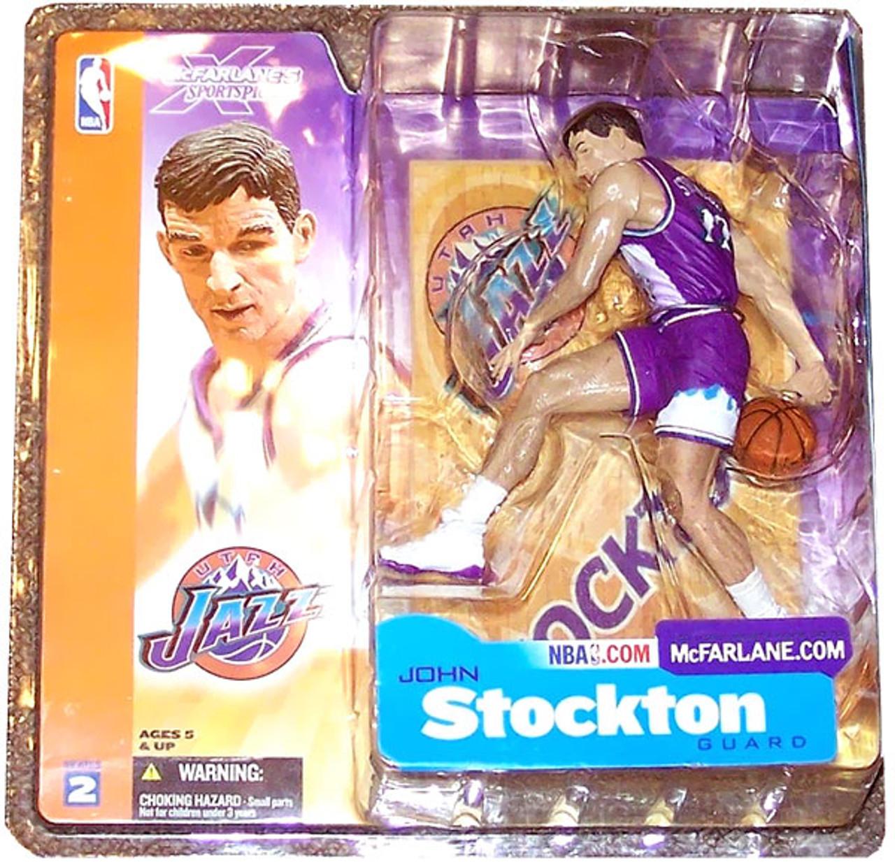 McFarlane Toys NBA Utah Jazz Sports Picks Series 2 John Stockton Action Figure [Purple Jersey Variant]