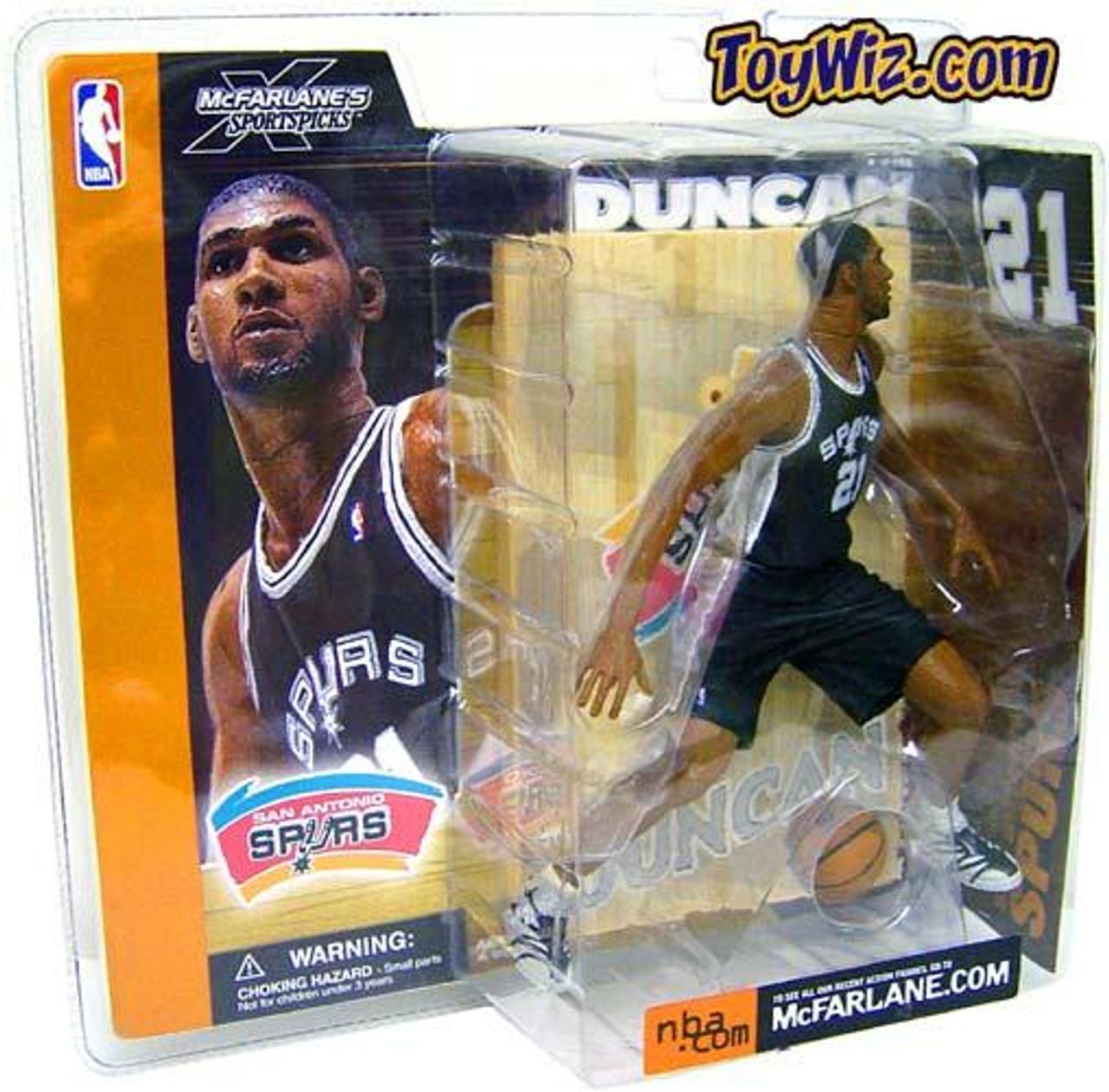 McFarlane Toys NBA San Antonio Spurs Sports Picks Series 1 Tim Duncan Action Figure [Black Jersey]