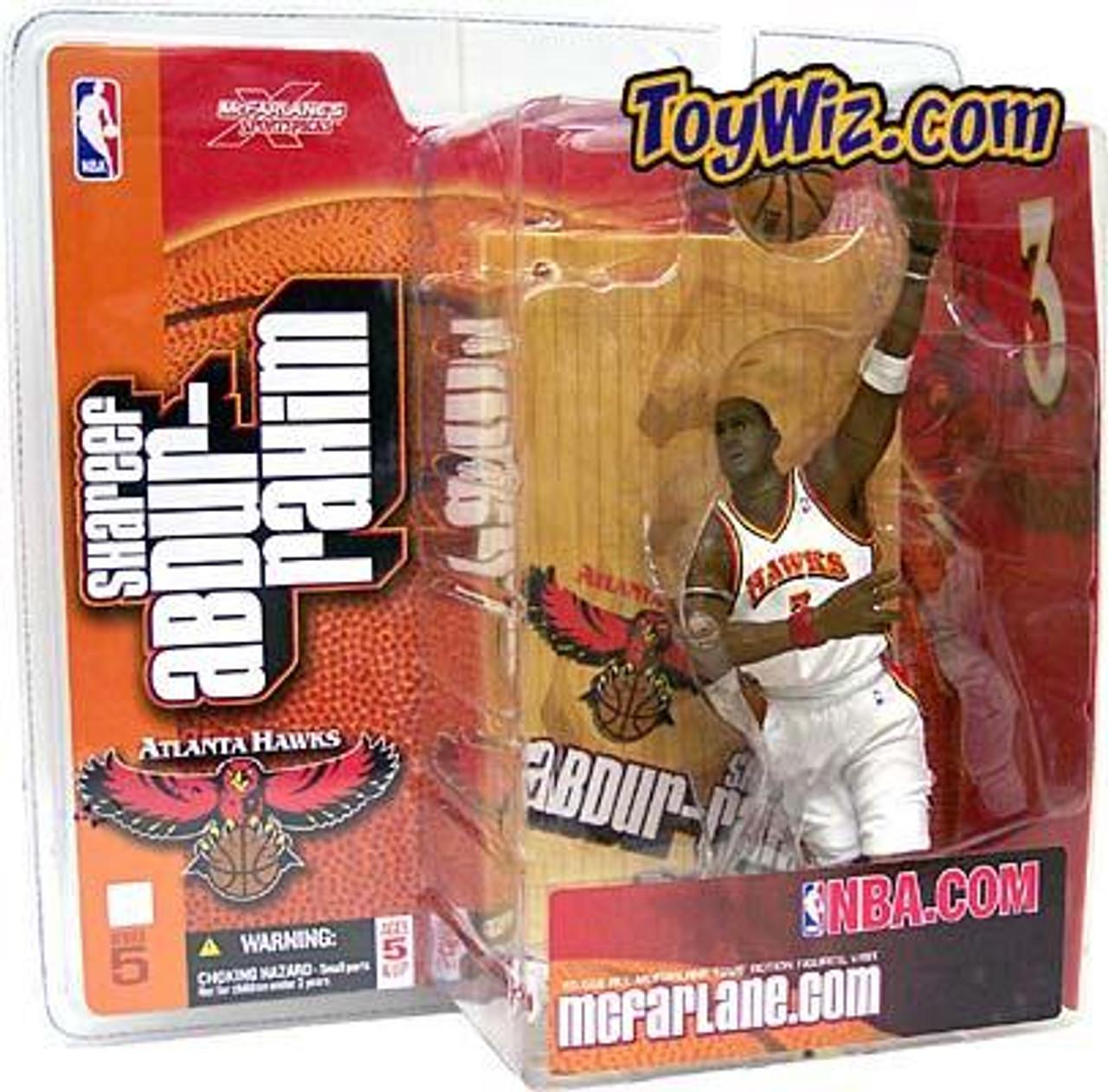 McFarlane Toys NBA Atlanta Hawks Sports Picks Series 5 Shareef Abdur Rahim Action Figure [White Jersey Variant]