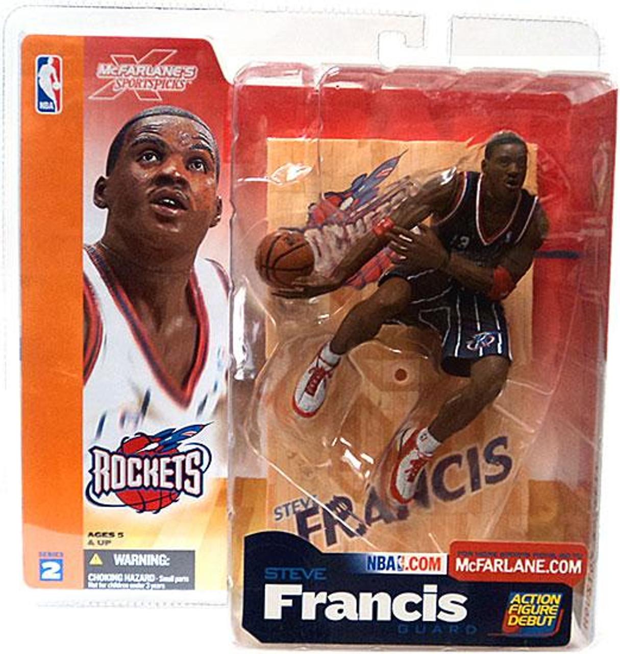 McFarlane Toys NBA Houston Rockets Sports Picks Series 2 Steve Francis Action Figure [Dark Blue Jersey Variant]