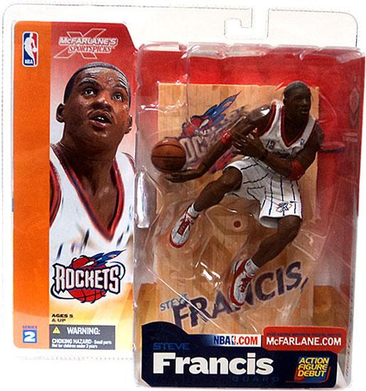 McFarlane Toys NBA Houston Rockets Sports Picks Series 2 Steve Francis Action Figure [White Jersey]