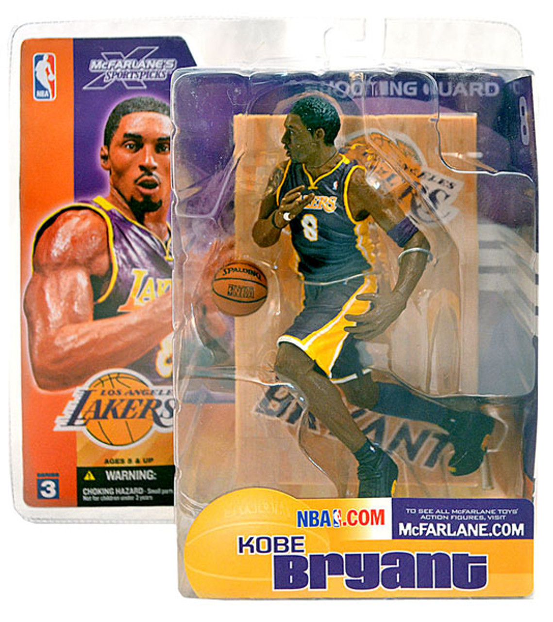 McFarlane Toys NBA Los Angeles Lakers Sports Picks Series 3 Kobe Bryant Action Figure [Purple Jersey]