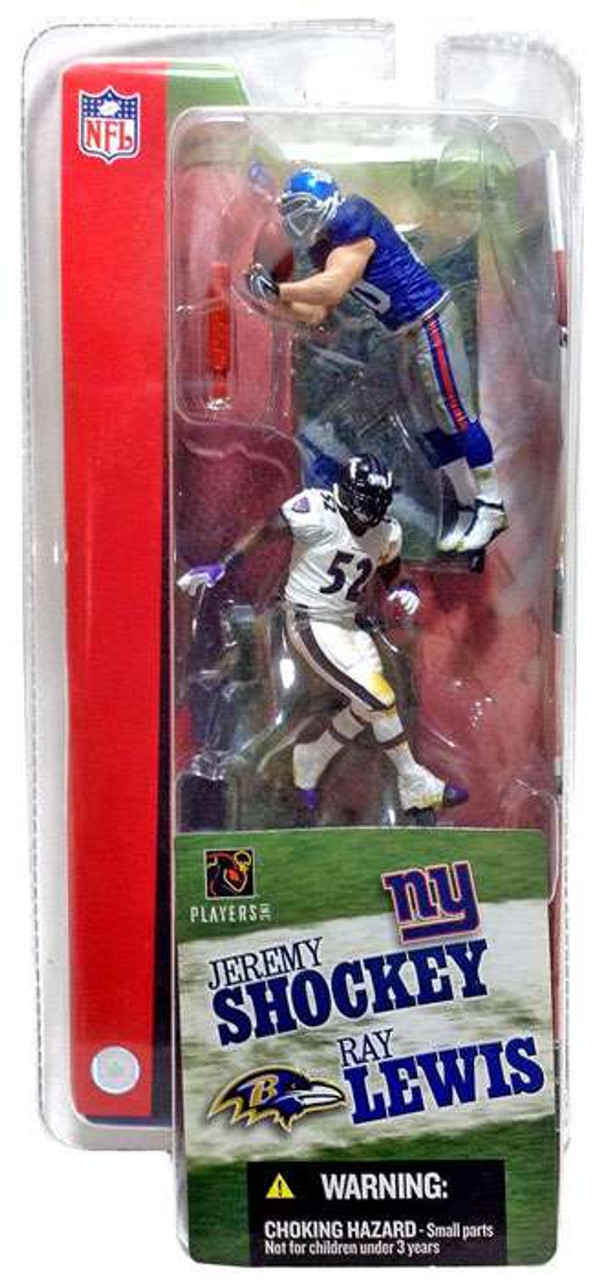 McFarlane Toys NFL New York Giants / Baltimore Ravens Sports Picks 3 Inch Mini Series 1 Jeremy Shockey & Ray Lewis Mini Figure 2-Pack 2-Pack