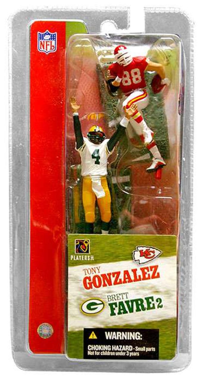 McFarlane Toys NFL Green Bay Packers / Kansas City Chiefs Sports Picks 3 Inch Mini Series 2 Brett Favre & Tony Gonzalez Mini Figure 2-Pack 2-Pack
