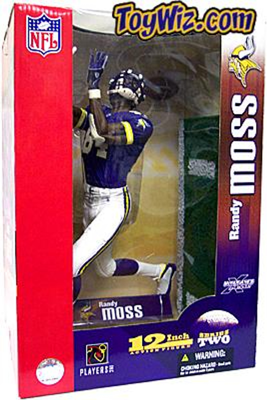 McFarlane Toys NFL Minnesota Vikings Sports Picks 12 Inch Deluxe Randy Moss Action Figure [Purple Jersey]
